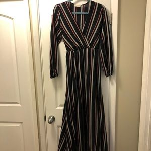 Striped Synch Waist Maxi Dress from Altr'd State